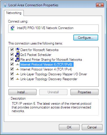 PC Configuration Checking TCP/IP Settings - Windows Vista 1. Select Control Panel - Network Connections. 2. Right click the Local Area Connection Status and choose Properties.