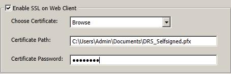 d) In the Certificate Path box, type the location where you want to store the certificate.