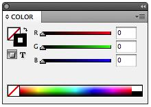 InDesign includes 10 default color options within the Swatches Palette (Fig.12). These colors are selected computer or TV screen.