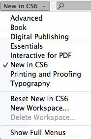 Turning on the New Features New Features of InDesign CS6 Make sure to select the New in CS6 (Fig.