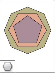 you create a multi-sided shape  create a