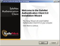 Installing Software Components for Enrollment 33 The SafeNet Authentication Client Installation Wizard