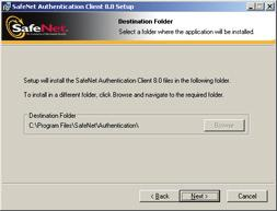 Installing Software Components for Enrollment 35 The Destination Folder window opens, displaying the default installation folder. 13. Click Next to begin the installation.