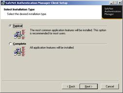 Depending on your SafeNet Authentication Manager configuration, you may be required to select the