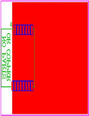 PCB Footprint (Top View): Recommended RF Layout & Ground Plane: The module integrated antenna requires a suitable ground plane to radiate effectively.