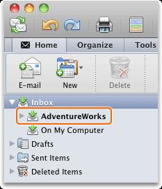 In the folder list, click a folder that contains a message.