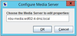 In the main window, open the Actions menu and click Configure Media