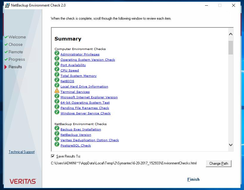 Start the NetBackup server software installation.