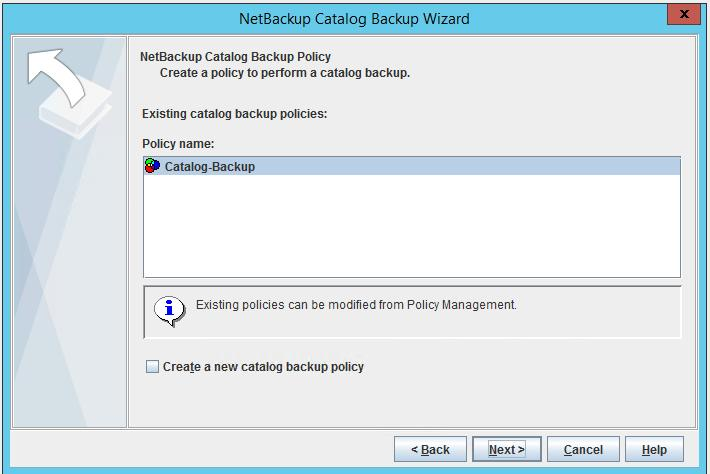 The NetBackup Catalog backup policy configuration is now complete.