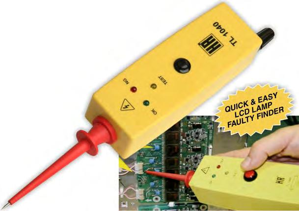Repair Assistance & Tools LCD BACK LIGHT TESTER CCFL LAMP FAULT FINDER Test and analyser for panel mounted fluoro