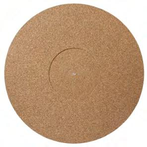 TURNTABLE MAT CORK RUBBER Designed to improve the sound of your turntable by