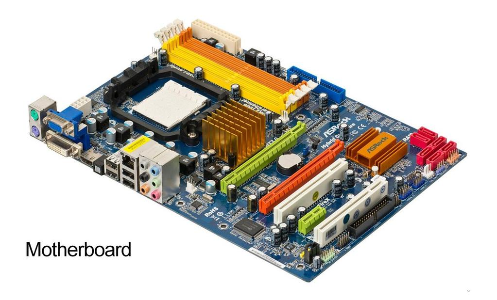 The main component of a computer system is the motherboard or main board.