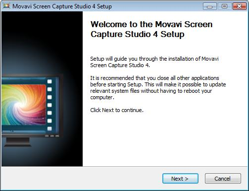 To install Movavi Screen Capture Studio, use the link you have received upon purchasing the product to download the program installation file (with.exe extension). 1.