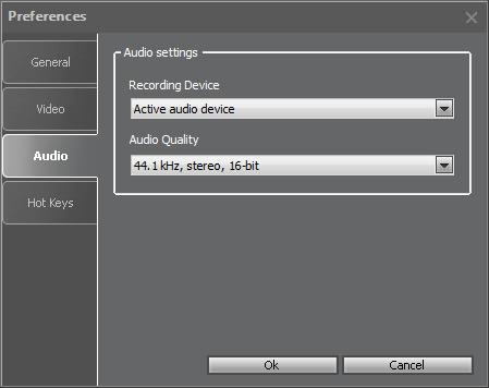 To record audio using Movavi Screen Capture Studio, you can select the audio recording device from the dropdown list (if several devices are connected to your computer) and select the quality of the