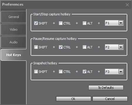 For a comfortable usage of Movavi Screen Capture Studio, you can specify the Hot Keys, which will allow you to easily manage the capturing process. 1.