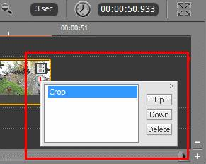 To apply the crop effect to your video: 1. Click below the Preview area or select Edit > Crop Clip in the Menu bar. As a result, the cropping area will appear on the picture. 2.