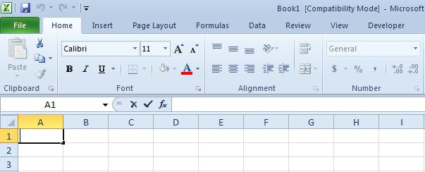 Workbook window, click Blank workbook. Worksheets are divided into columns, rows, and cells. Rows are horizontally from left to right. Columns are vertical from top to bottom.