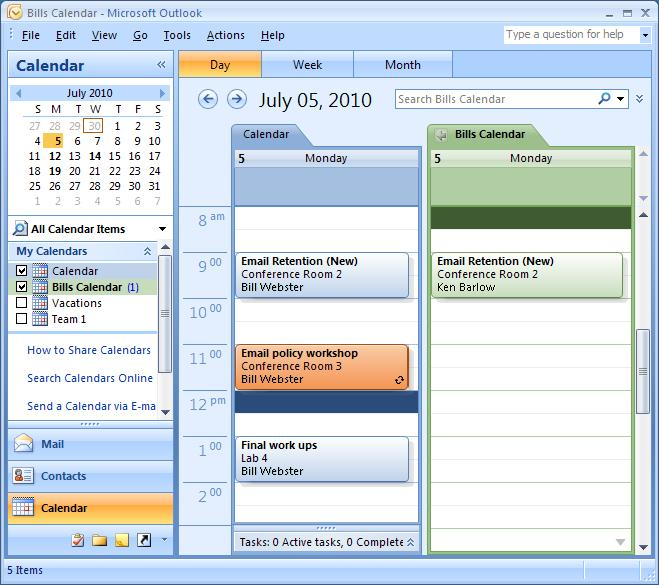 Calendar and Scheduling The Outlook Calendar lets you manage Appointments and Tasks. You can create multiple calendars and share calendars with others.