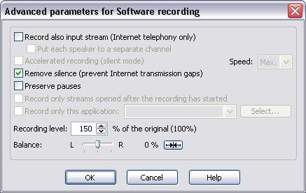 112 TotalRecorder On-line Help Total Recorder's main window, or use the system mixer.