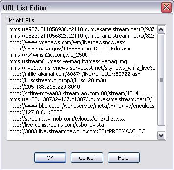 Using Total Recorder 125 Editing the list of recent URLs is similar to editing text in a text editor. One URL must occupy exactly one line. Click OK to save your changes. See also.