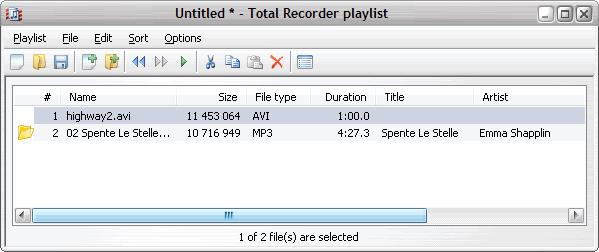196 TotalRecorder On-line Help If you use the default playlist settings and hide the Playlist window, Total Recorder works with playlists transparently to you.