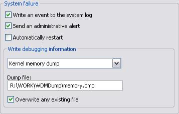 "260 TotalRecorder On-line Help - In the ""Dump file"" field, specify the name of the dump file. - Select the ""Overwrite any existing file"" check box."