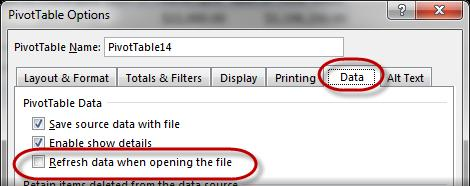 Note: Depending on how wide the Excel window is, Options may not display immediately.