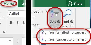 Sort a PivotTable To sort the data in a column, position the cursor in the field to be