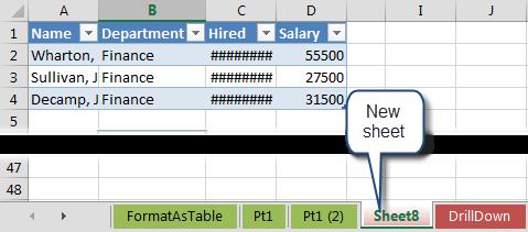 To expand or collapse a field, click on the plus or minus button to the left of the field names in the PivotTable.