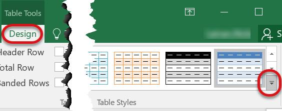 To make any changes to a table, the cursor must be located within the table data.