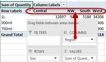 Add Fields to a PivotTable To make a PivotTable, fields must be added to the PivotTable areas.