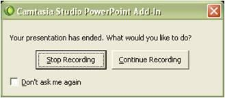 Use the microphone attached to your PC and walk through your PowerPoint presentation as if you were presenting to an audience. 6.