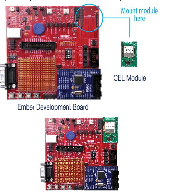 The tiny module footprint makes them suitable for a wide range of ZigBee applications.