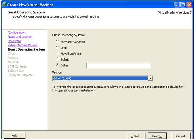 Creating a new virtual machine 8. Click Next. The Virtual CPUs screen appears. 9.