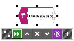 4. Enter a name for the event by overtyping the selection with Launch scheduled. To insert a line break between Launch and scheduled, press Enter. 5.