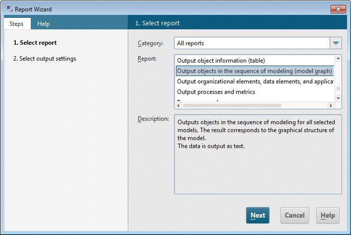 4.2 Evaluate model contents Report-based evaluations enable you to output the contents of user databases and models or object descriptions as a text.