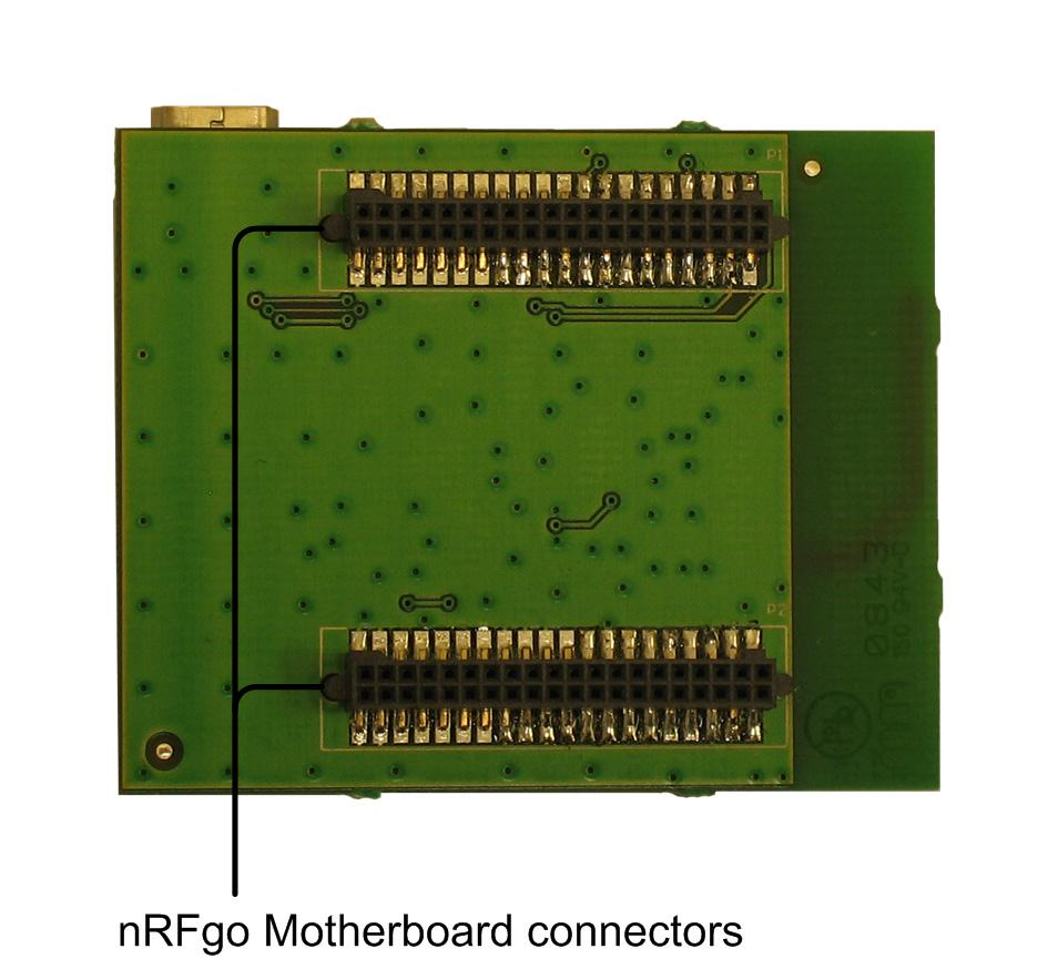 nrf2726 module When switch S1 is set to VTG, nrf2726 is powered from the nrfgo Motherboard.