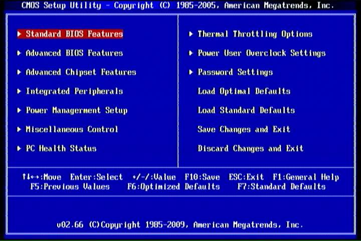 Figure 3-1 Standard BIOS Features Use this Menu for basic system configurations. Advanced BIOS Features Use this menu to set the Advanced Features available on your system.