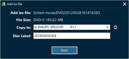 If Copy to option is empty, click the refresh button to refresh. If it is still empty, check whether your inserted disc is writable or not, and make sure your drive works well.