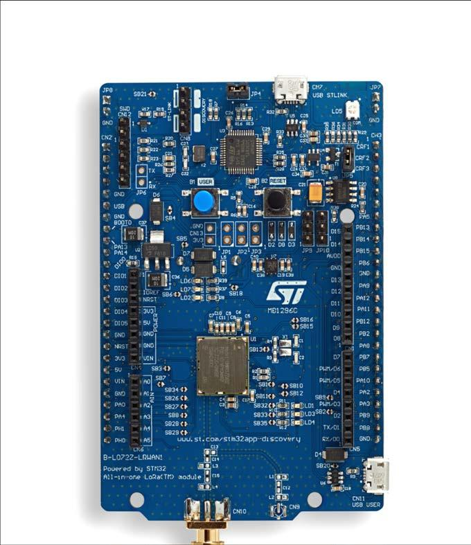 New hardware tool 25 B-L072Z-LRWAN1: Murata STM32 and