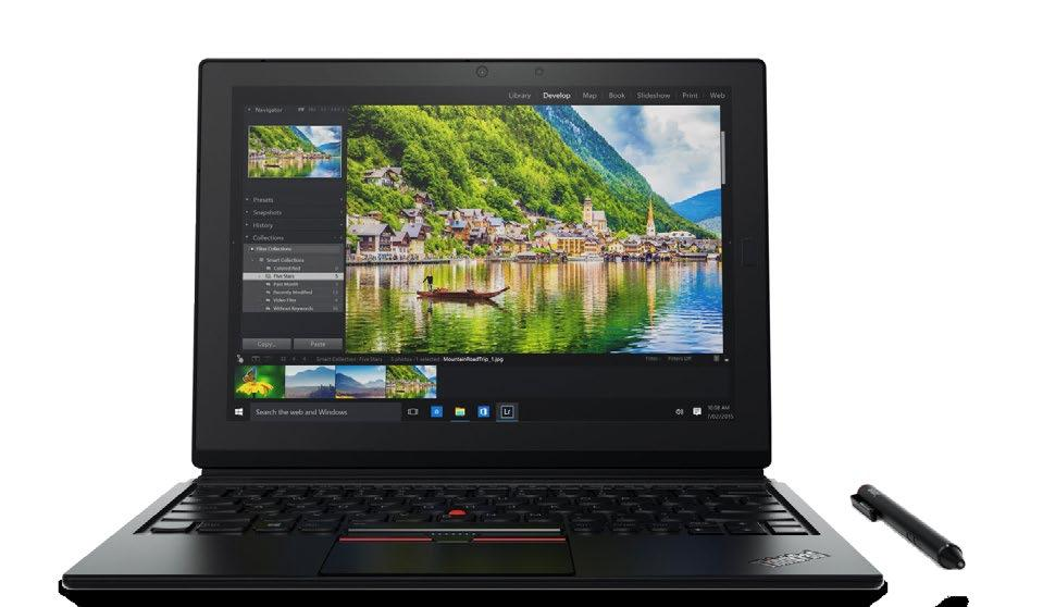 Windows Tablet FUELED BY THE POWER OF A LAPTOP WITH A FULL-SIZED, DETACHABLE KEYBOARD, THE THINKPAD X1 TABLET IS LIKE NO OTHER 2-IN-1 YOU'VE ENCOUNTERED.