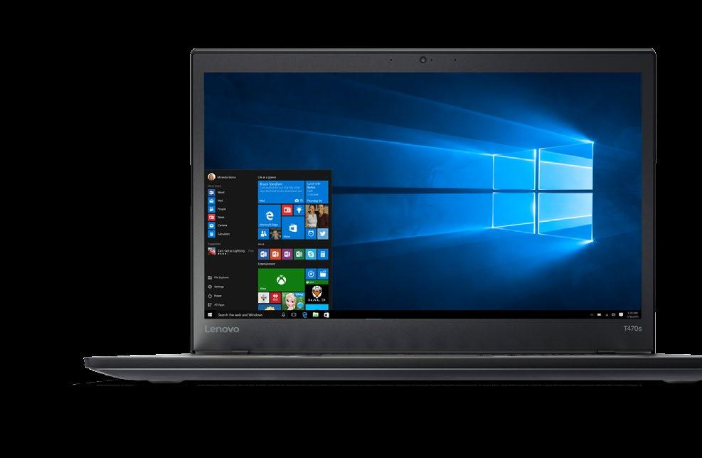Executive Laptop THE THINKPAD T470s GIVES PRINCIPALS, ASSISTANT PRINCIPALS, AND DOE EXECUTIVES THE LATEST PROCESSING POWER, DURABILITY, AUDIOVISUALS, AND ALL-DAY BATTERY LIFE THEY NEED TO GET THEIR