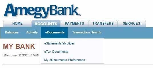 ACCOUNTS TAB: edocuments How to enroll in edocuments.