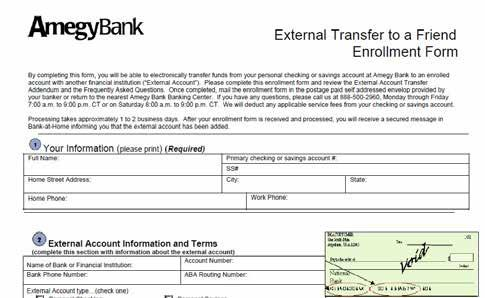 Print, fill and submit form found in Add Friends External Account to make external transfers to a friend.
