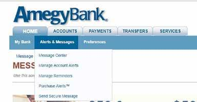 . View messages in the Message Center, or by clicking the View Messages link within the Info Center on the My Bank page and clicking on appropriate message.