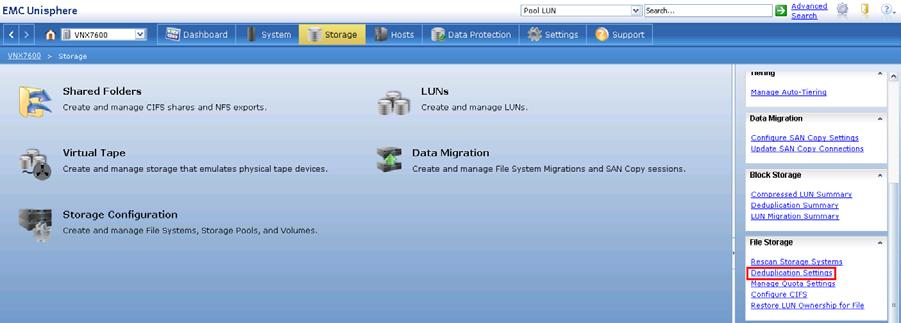 location of this option. Figure 42 is an example of the Deduplication Settings window for the Data Mover. Figure 41. Deduplication Settings location Figure 42.