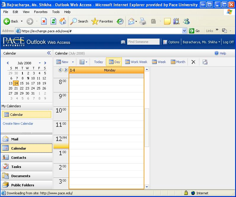 CALENDAR DRAFT COPY IV. CALENDAR Microsoft Office Outlook offers web access to its Outlook Calendar. This access allows users to view their Outlook information in basically the same format online.