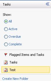 DRAFT COPY TASKS select Delete 7. Creating a New Task Folder New task folders can be created through the web access.
