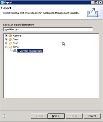 2. Select ITCAM for