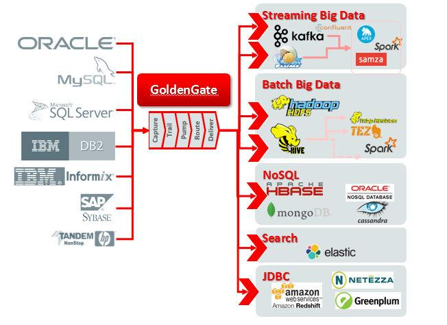 NoSQL, Elastic Search, SAP HANA, IBM PureData System for Analytics, Greenplum, and many others.